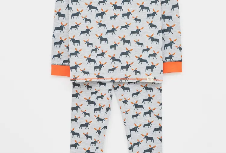 White Stuff Mighty Moose Jersey PJ Set