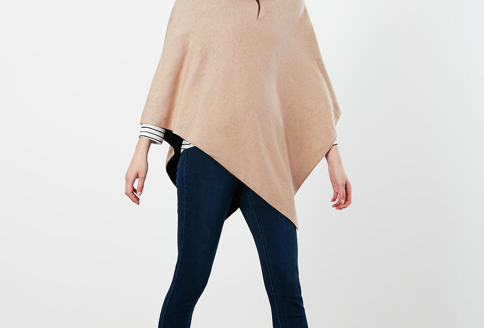 Joules Beatrice Knitted Camel Cape/Poncho