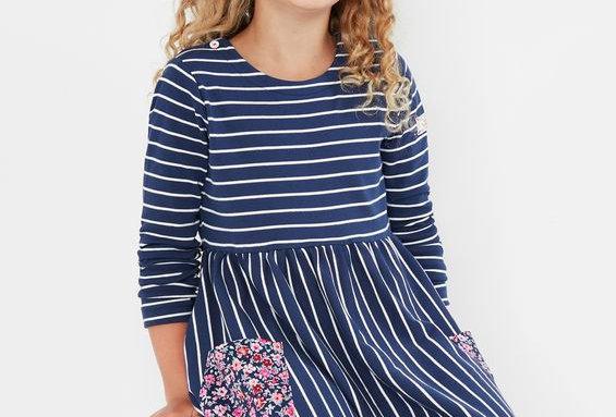 Joules Nancy Jersey Breton Dress