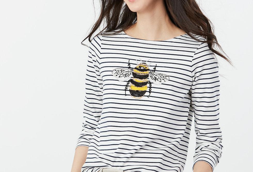 Joules Harbour Print  Luxe Bee Long Sleeve Top