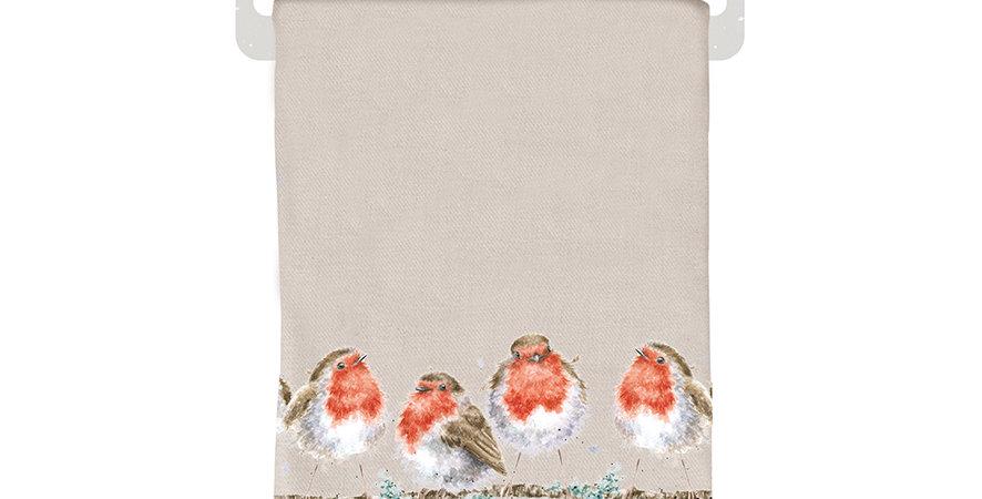Wrendale Winter Scarf Robin design