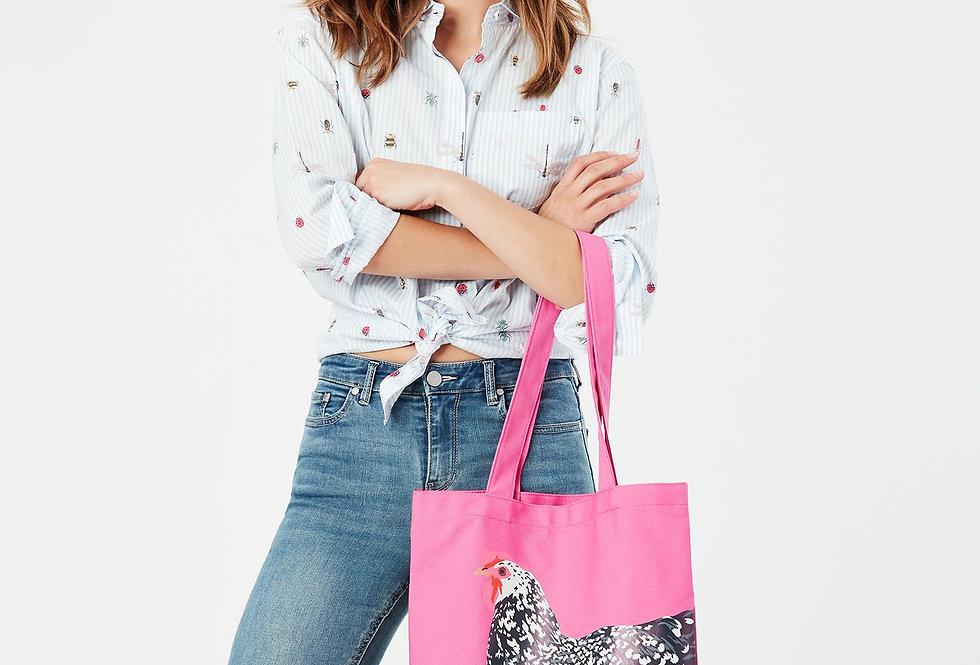 Joules Lulu Pink Chicken Bag