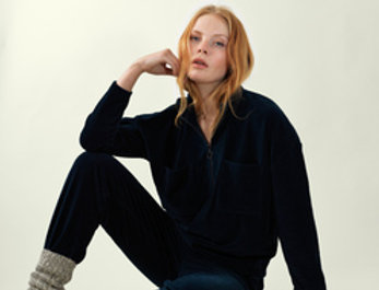 Great Plains Soft Navy Cord Top