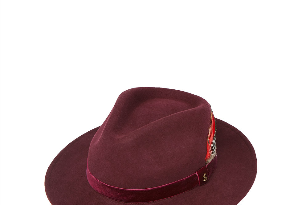 Joules Fedora Hat Ox Blood