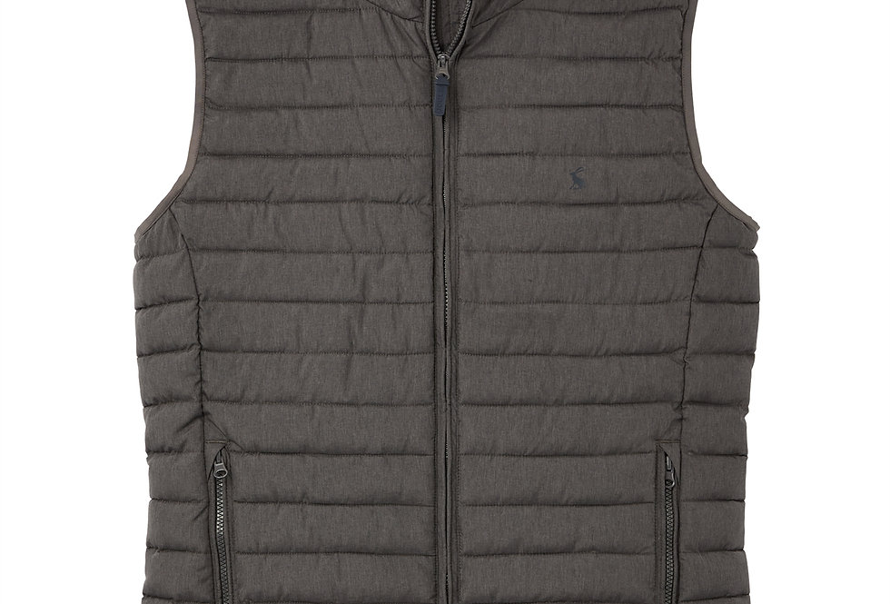 Joules Go To Lightweight Padded Gilet Grey Metal