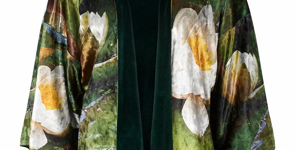 From My Mothers Garden Velvet Water Lily Reversible Kimono