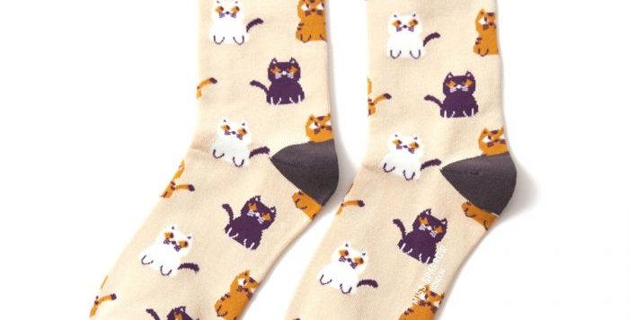 Miss Sparrow Little Kitties Bamboo Socks
