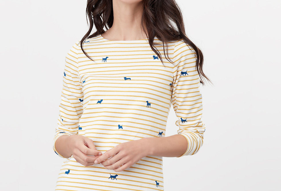 Joules Harbour Print Dog Stripe