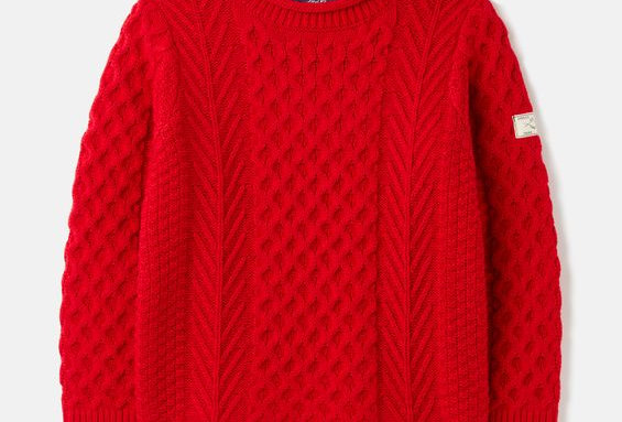 Joules Red Arran KnitJumper
