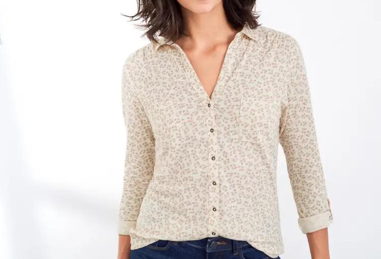 White Stuff Pocket Jersey Shirt