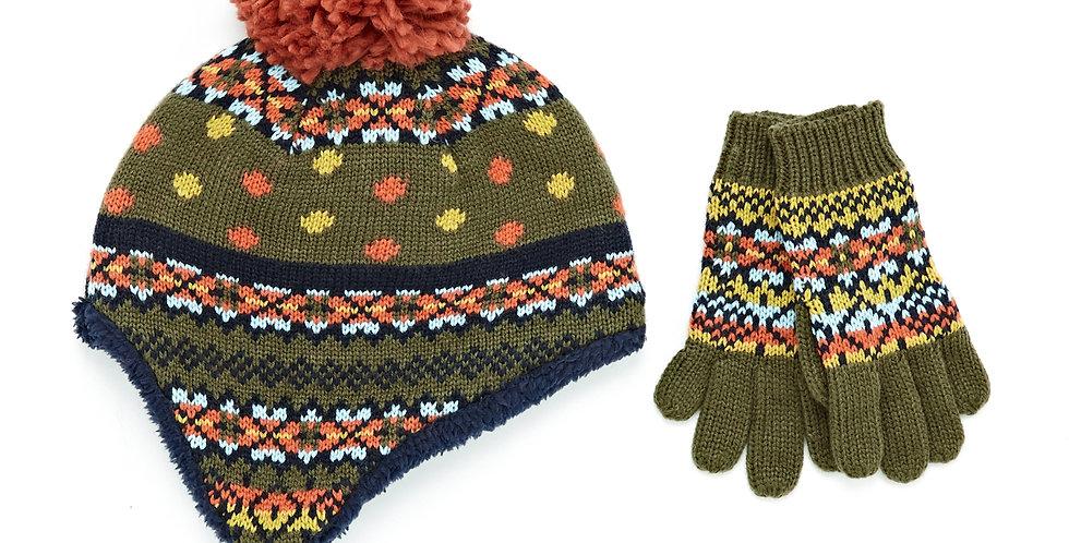 White Stuff Freddy Fairisle Hat and Gloves Set