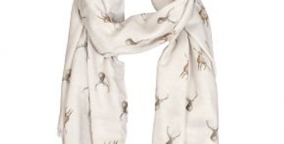 Wrendale Wild At Heart Stag Scarf