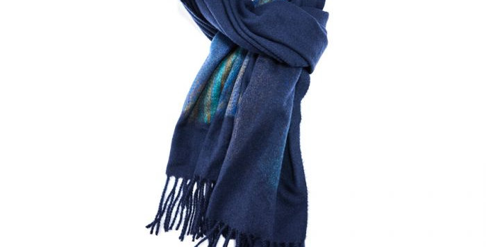 Miss Sparrow Chunky Navy Scarf