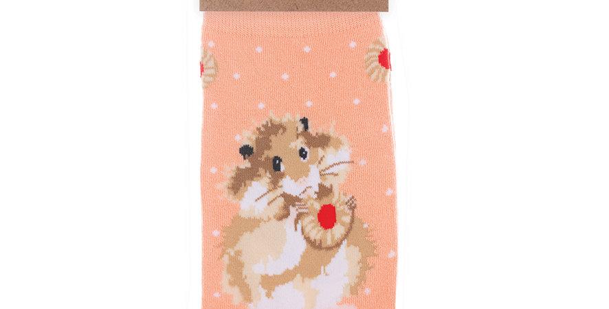 Wrendale Hamster Bamboo Socks and Gift Bag