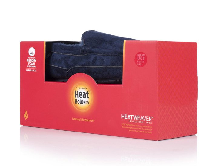 Heat Holders Moccasin Slippers Navy