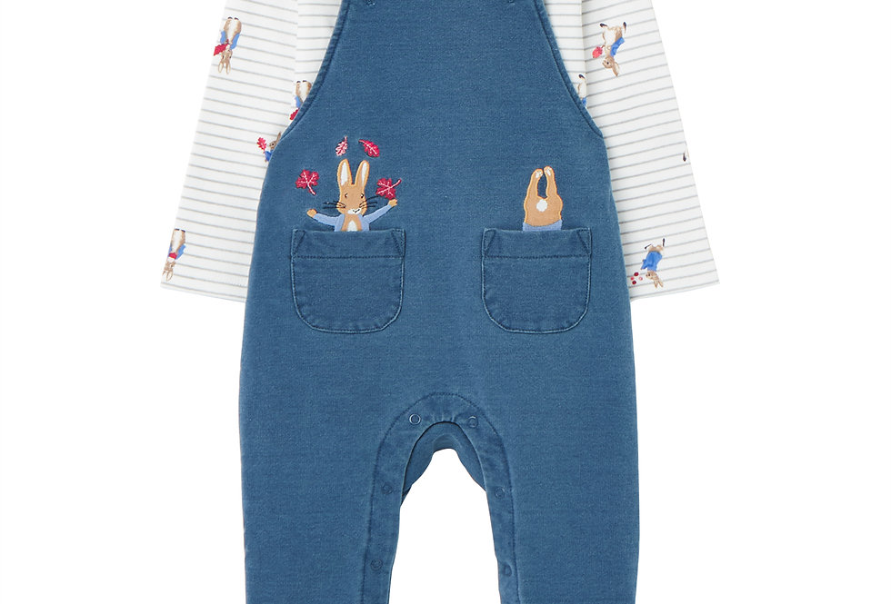 Joules Baby Wilbur Peter Rabbit Dungaree Set