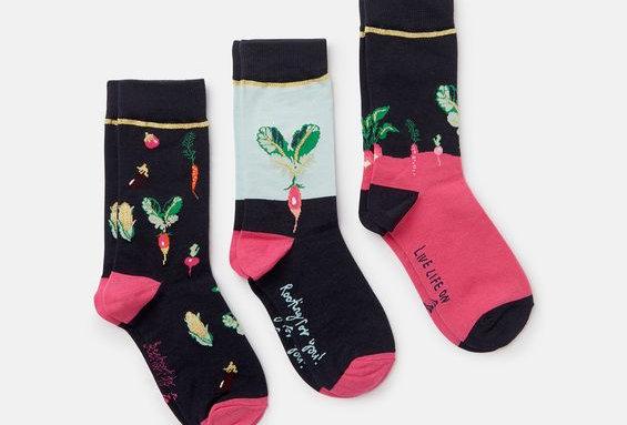 Joules Ladies 3pk of Bamboo Socks