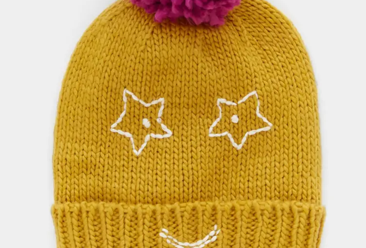 White Stuff Kids Funny Face Hat
