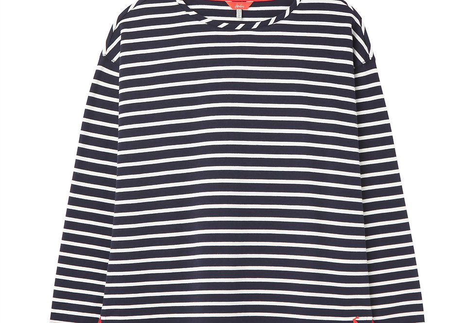 Joules Marina Navy and White  Stripe Top