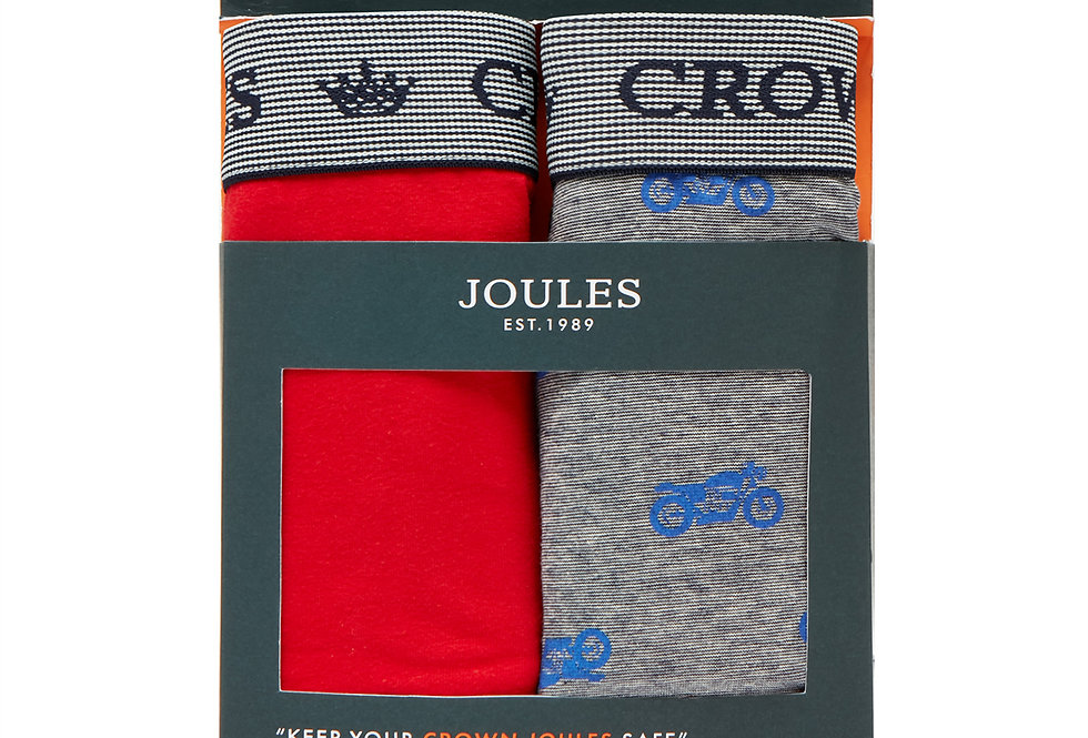 Joules Mens Pack of 2 Boxers