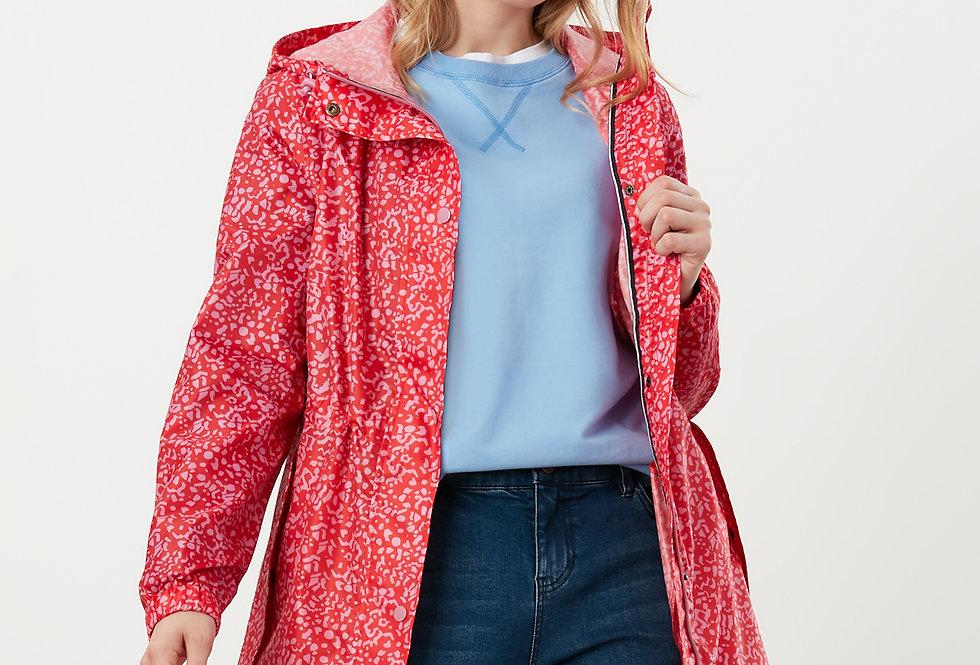 Joules Golightly Red Butterfly Waterproof Jacket