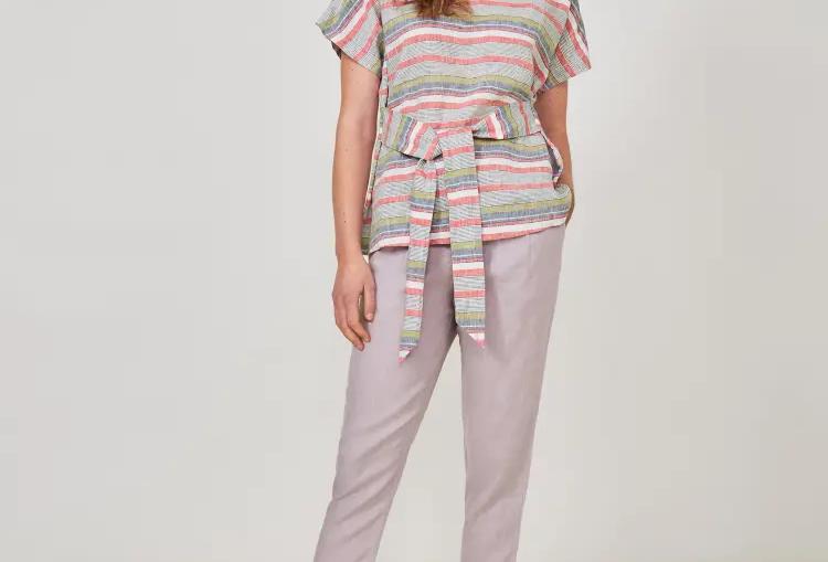 White Stuff Linen Tie Top