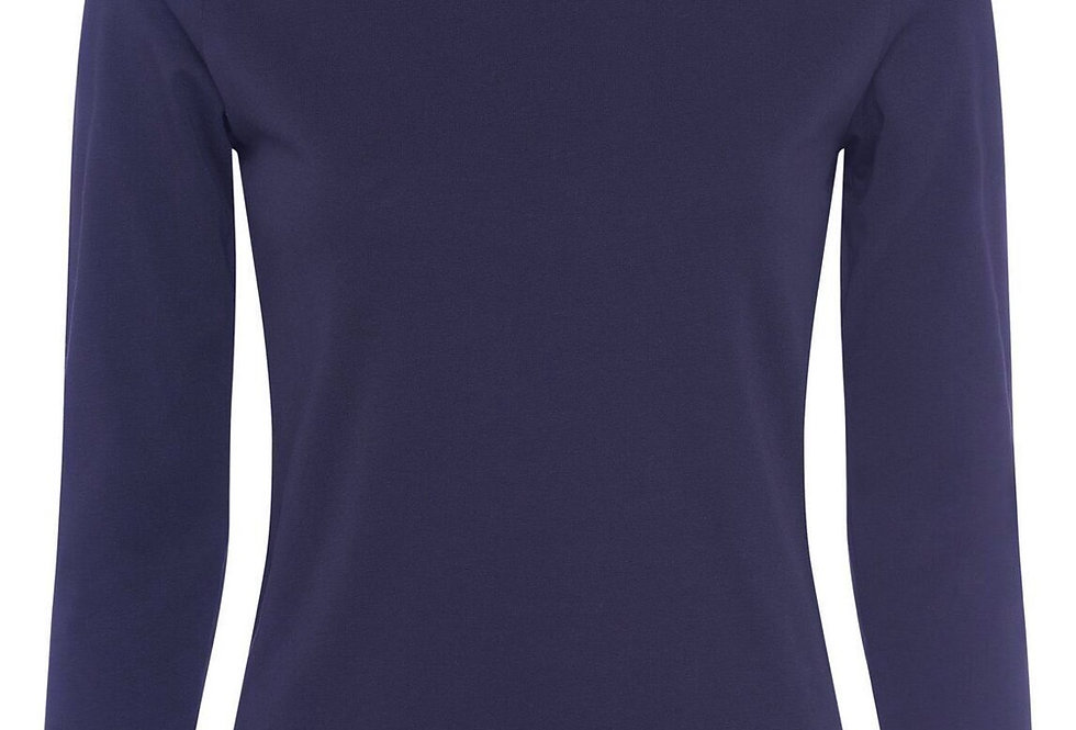 Great Plains Organic Cotton Navy 3/4 Sleeved Top
