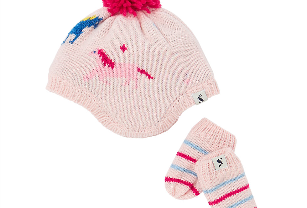 Joules Nippy Hat and Mittens Set