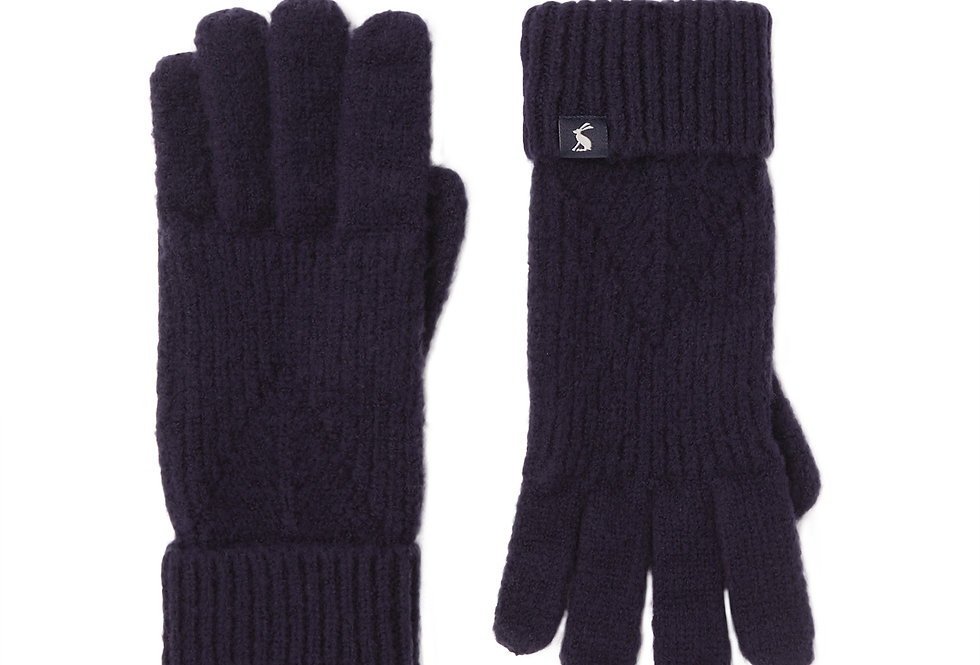 Joules Thurley Navy Gloves