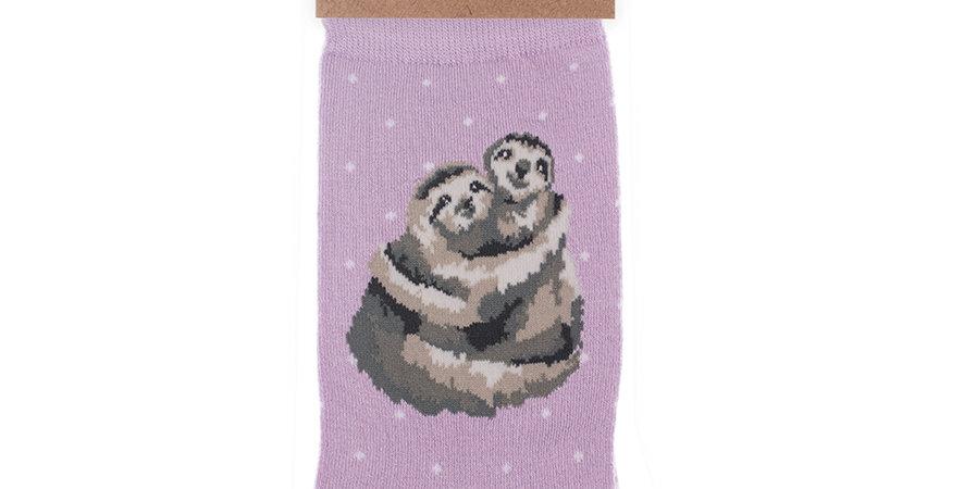 Wrendale Sloth  Bamboo Socks and Gift Bag