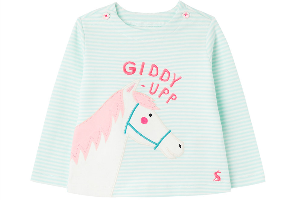 Joules Harriet Green Horse Top