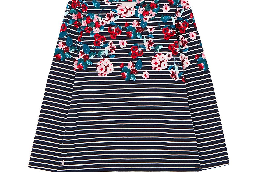 Joules Harbour Print Navy Floral Stripe