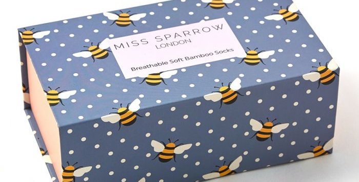 Miss Sparrow Bee Sock Box
