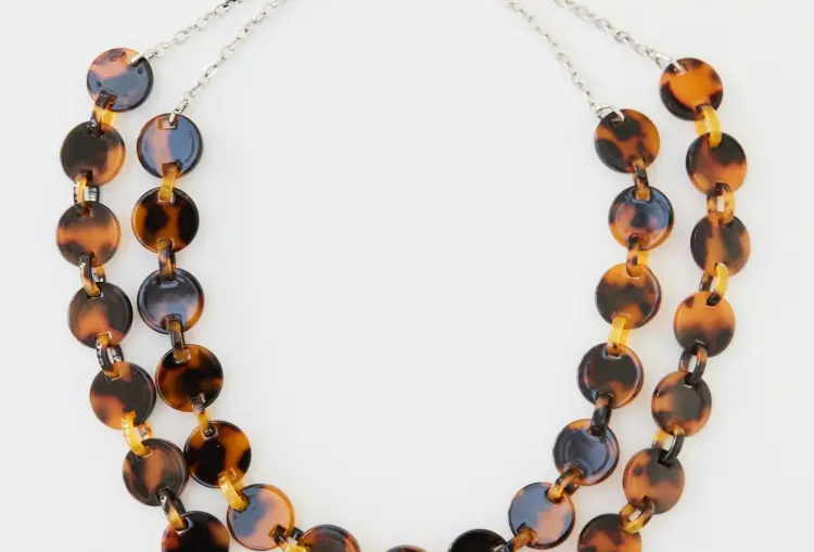 White Stuff Link Tortoiseshell Necklace