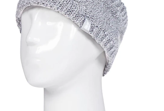 Heat Holders Grey Faux Fur lined Headband