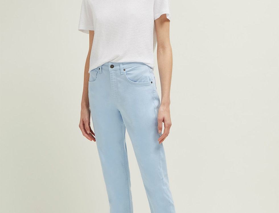 Great Plains Powder Blue Cropped High Waisted Trousers