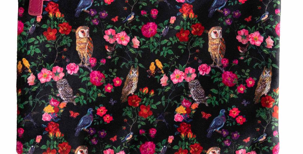 Heathcote & Ivory Forest Folk Velvet Clutch Wash Bag
