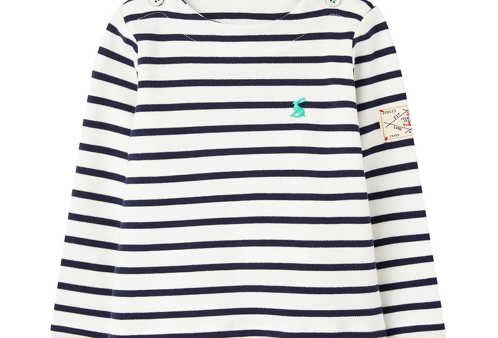 Joules Baby Harbour White and Navy Stripe