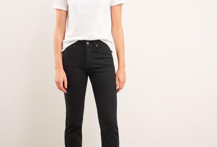 White Stuff Straight Jeans Pure Black