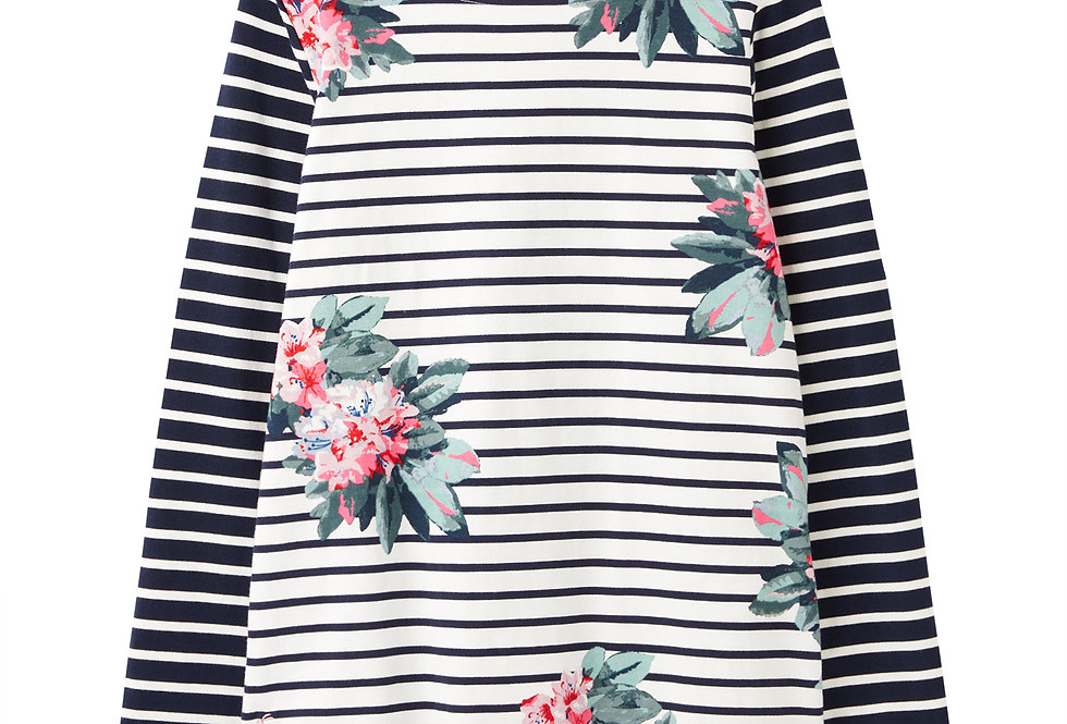 Joules Harbour Print Floral Cream Stripe