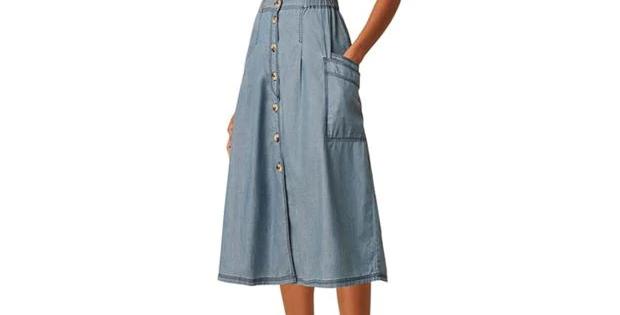 Great Plains Light Denim  Skirt