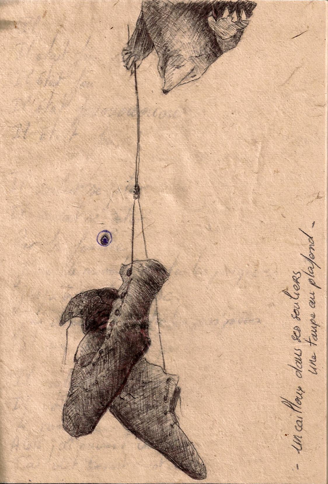 Un caillou dans ses souliers, une taupe au plafond