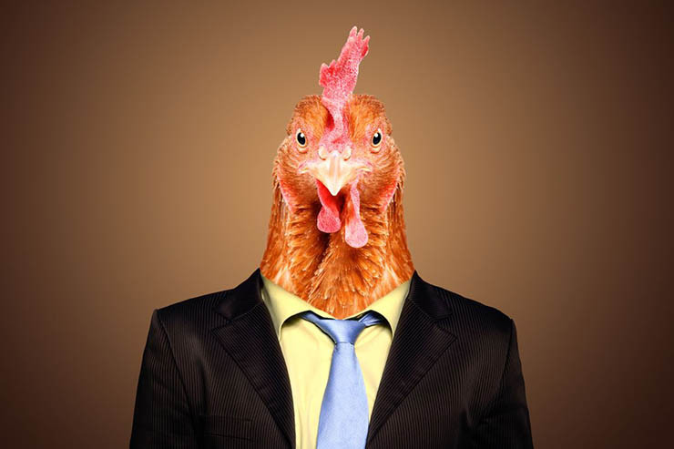 worst date stories - image of a cock in suit to indicate that not every online dater is what they seem
