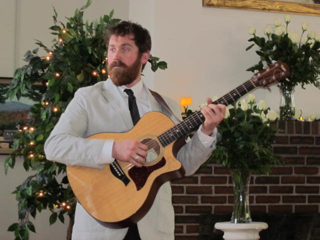 Chad Verbeck plays at a wedding