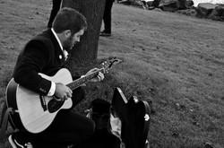 Chad playing at wedding