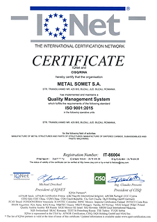 Certificat ISO 9001 IQNET