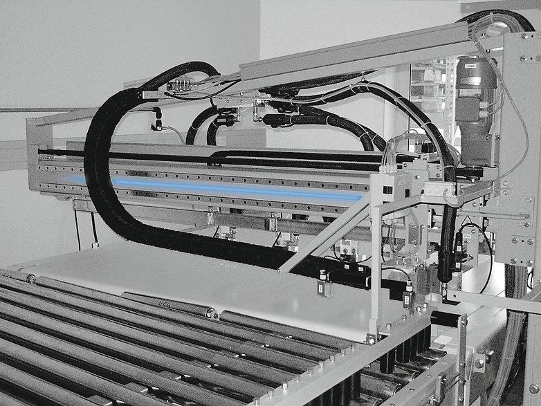 Máquina de llenado de bolsas con guías lineales Franke