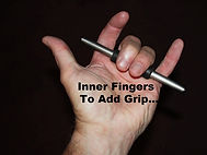 "Ti Rod Tactical™ ""Fist Lock™""  outer fingers center stick & LOCK it within a closed fist"