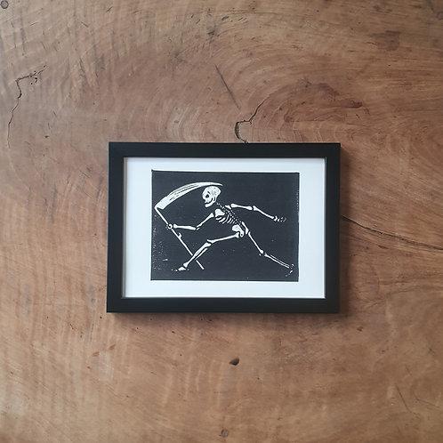 La Mort qui fauche | blanc | 14,8 x 21 cm