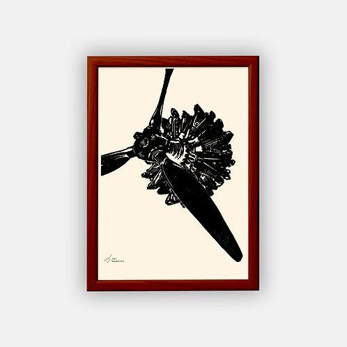 Gravure | Mistral Major 1933 | Classique | 21 x 29,7 cm